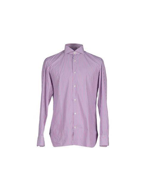 Giampaolo   Мужская Фиолетовая Pубашка