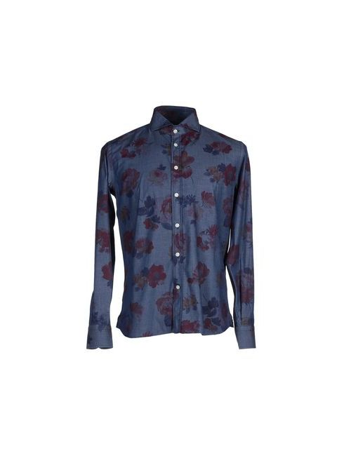 Brancaccio Caruso | Мужская Синяя Pубашка
