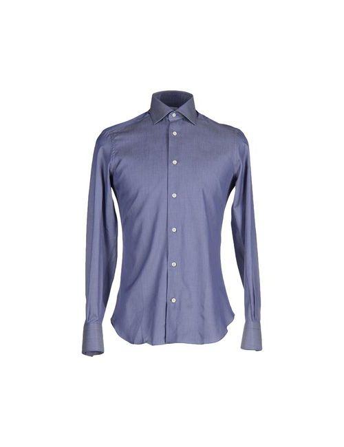 MAZZARELLI | Мужская Синяя Pубашка