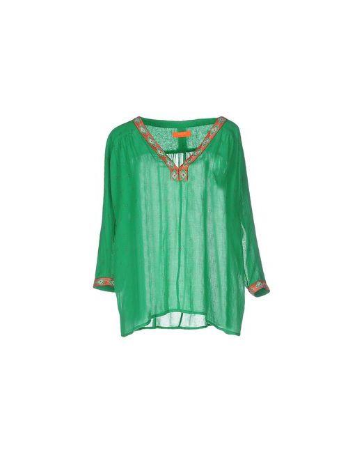 Ba&Sh | Женская Зелёная Блузка