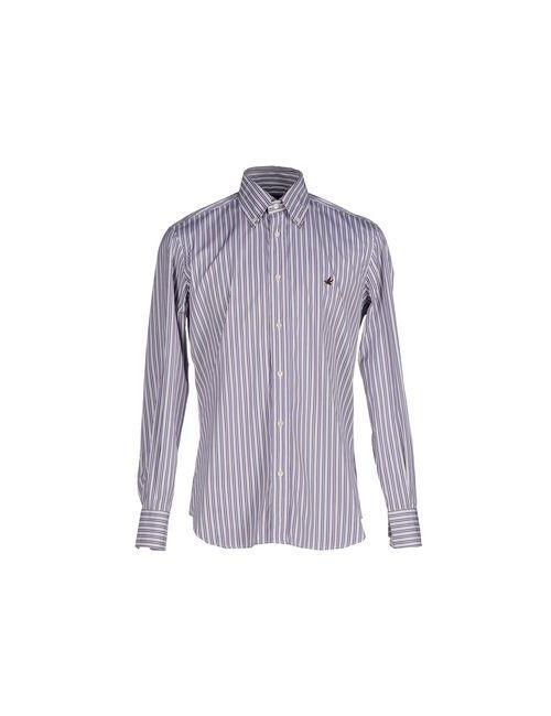 Brooksfield   Мужская Фиолетовая Pубашка