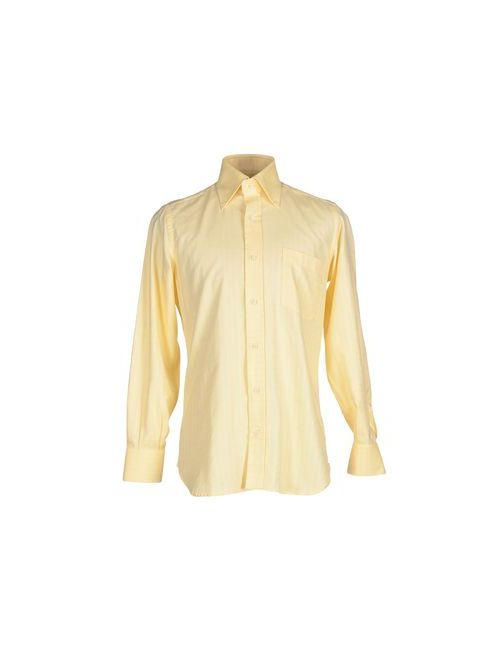 VIA DELLA CAMICIA   Мужская Жёлтая Pубашка