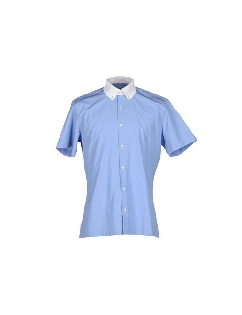Cortigiani   Мужская Голуба Pубашка