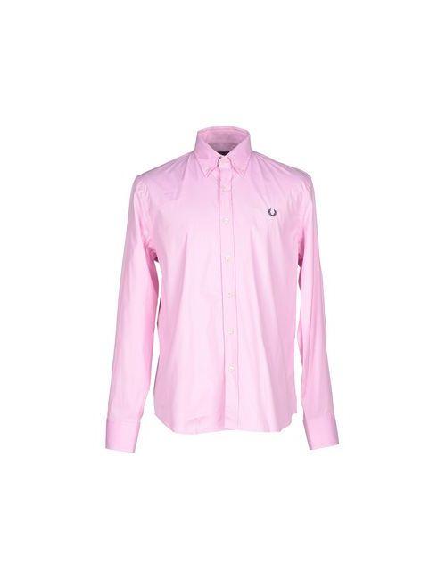 Fred Perry   Мужская Розовая Pубашка