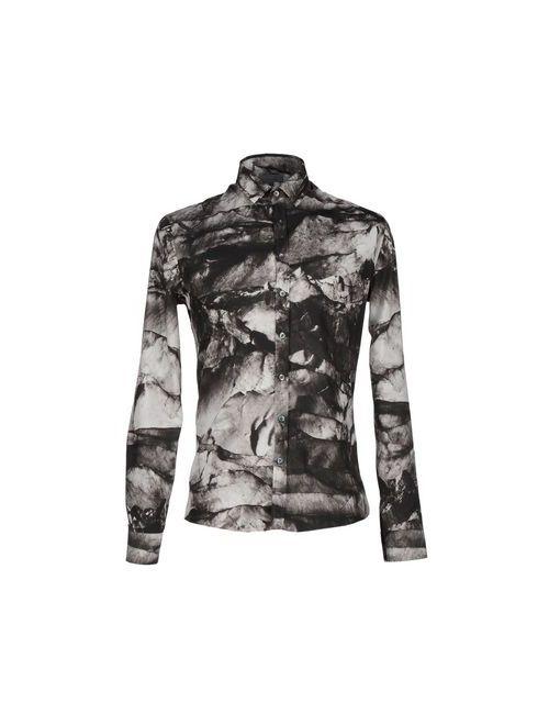 Les Hommes | Мужская Чёрная Pубашка