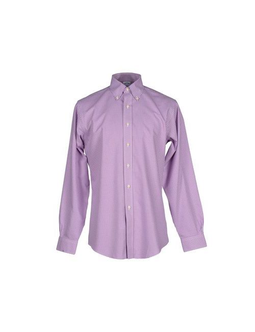 Brooks Brothers | Мужская Розовато-Лиловая Pубашка