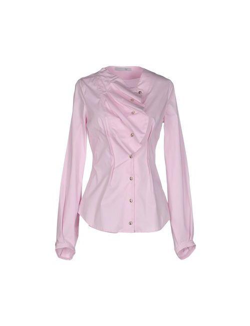 Oblique | Мужская Розовая Pубашка