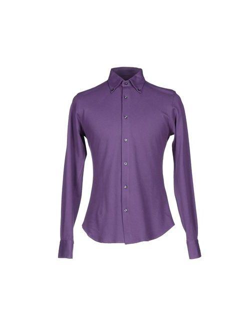 Allegri | Мужская Фиолетовая Pубашка