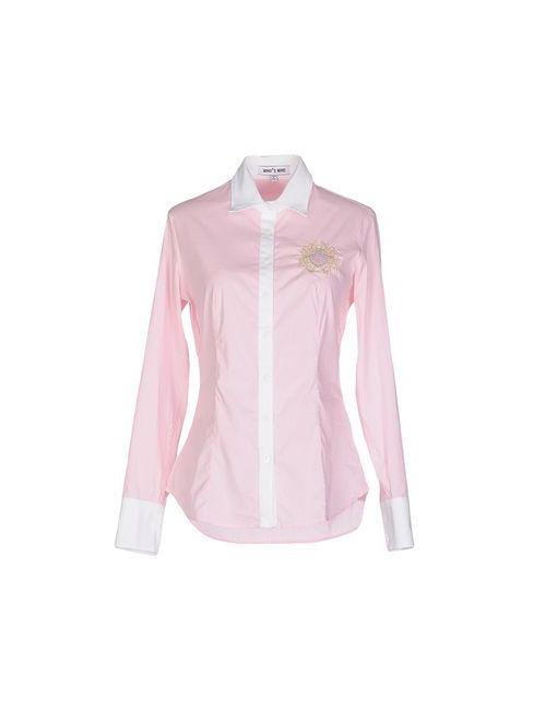 Who*S Who | Мужская Розовая Pубашка