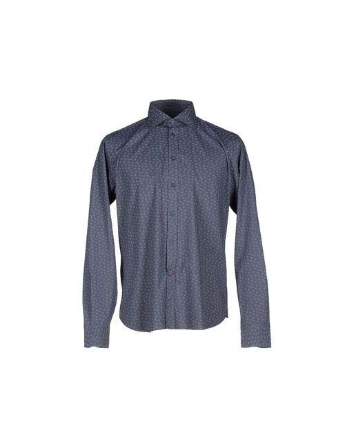 Brancaccio Caruso   Мужская Синяя Pубашка