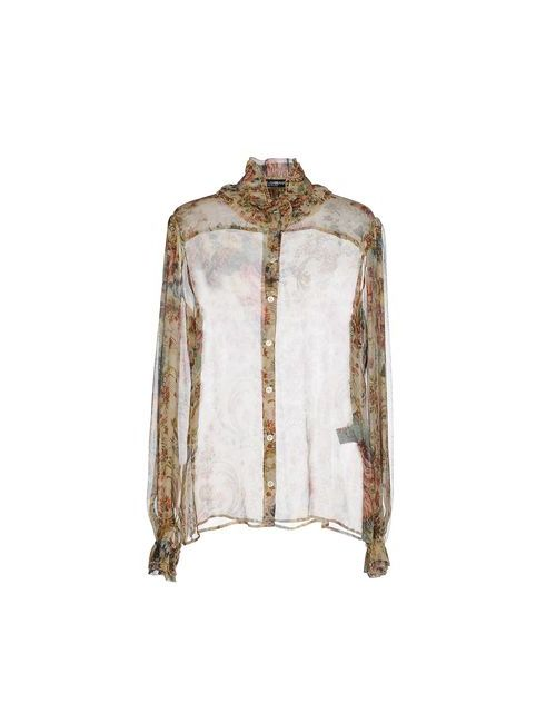 Dolce & Gabbana   Мужская Бежевая Pубашка