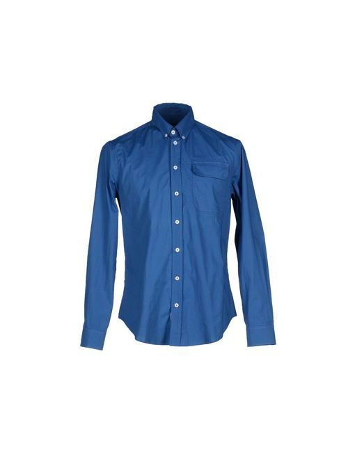 Blauer   Мужская Синяя Pубашка