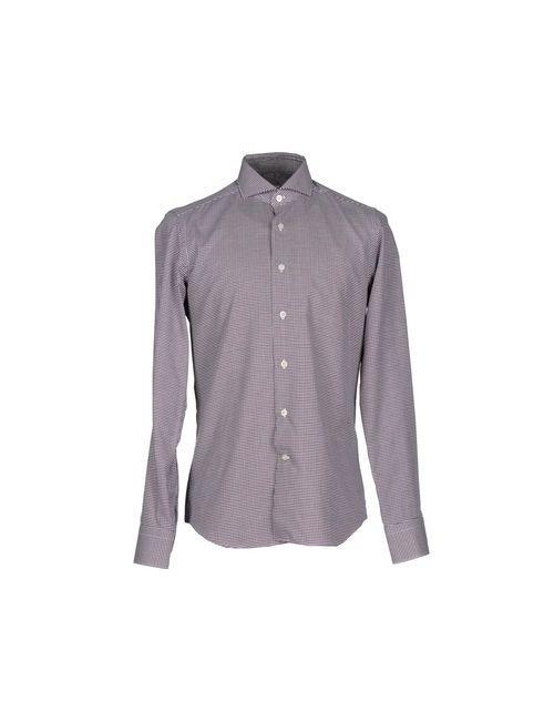 GHIRARDELLI | Мужская Коричневая Pубашка