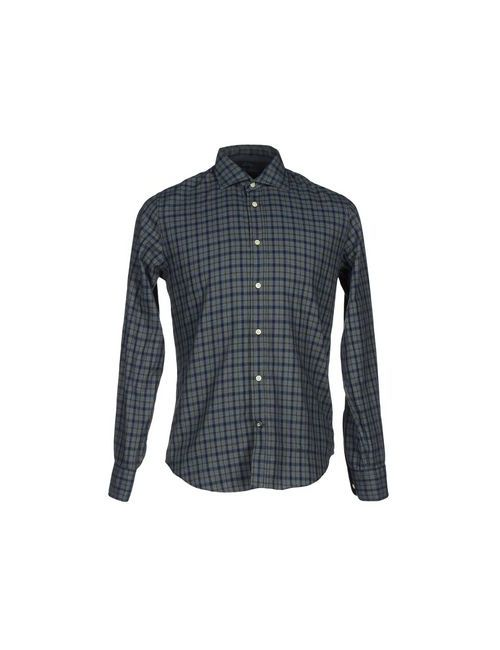 Henry Cotton's | Мужская Зелёная Pубашка