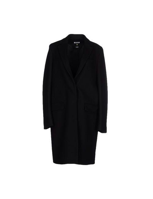 MSGM | Женское Чёрное Легкое Пальто