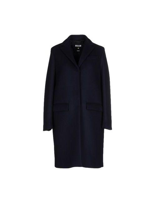 MSGM | Женское Синее Легкое Пальто