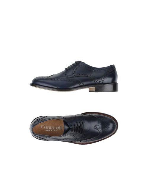 Cantarelli   Мужская Синяя Обувь На Шнурках