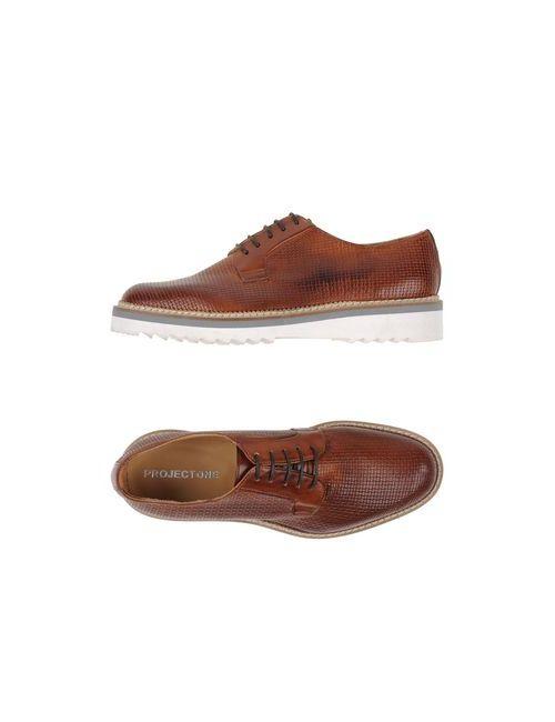 Project One | Мужская Коричневая Обувь На Шнурках