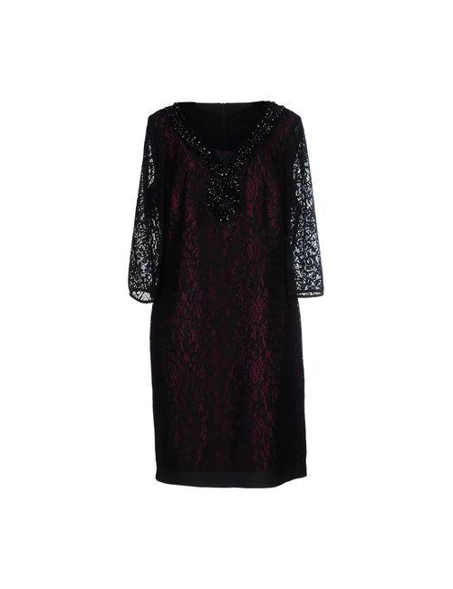Calaluna | Женское Чёрное Платье До Колена