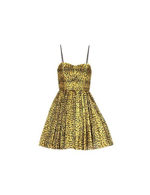 Saint Laurent | Женское Золотистое Короткое Платье
