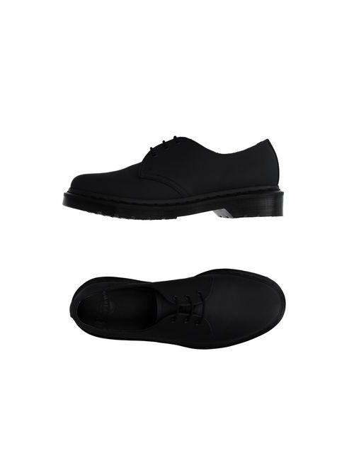 Dr. Martens   Мужская Чёрная Обувь На Шнурках