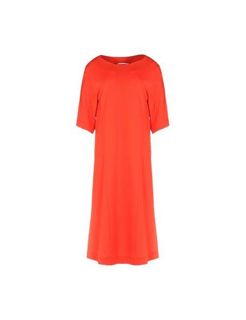 Jil Sander | Женское Красное Платье До Колена