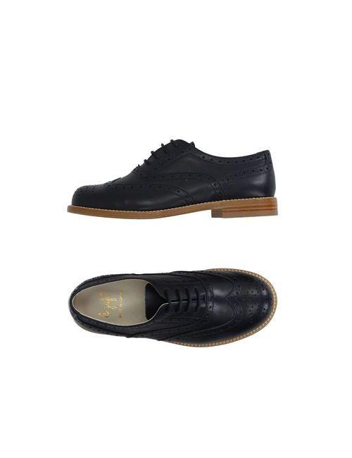 Il Gufo | Мужская Синяя Обувь На Шнурках