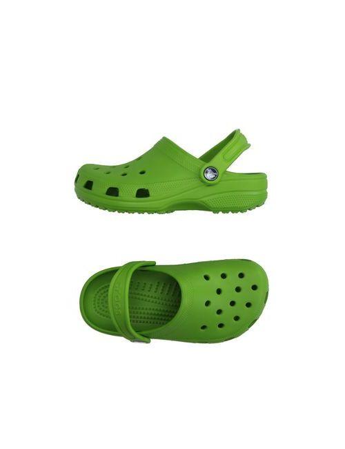 Crocs   Женские Зелёные Сандалии
