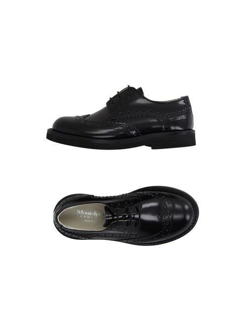 Montelpare Tradition | Мужская Чёрная Обувь На Шнурках