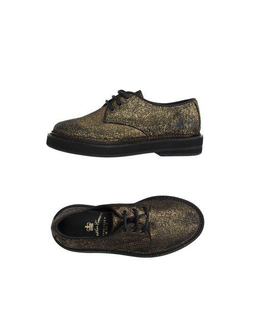 Leather Crown | Мужская Золотистая Обувь На Шнурках