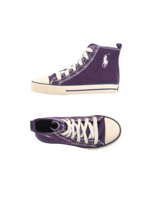 Ralph Lauren | Мужские Фиолетовые Высокие Кеды И Кроссовки