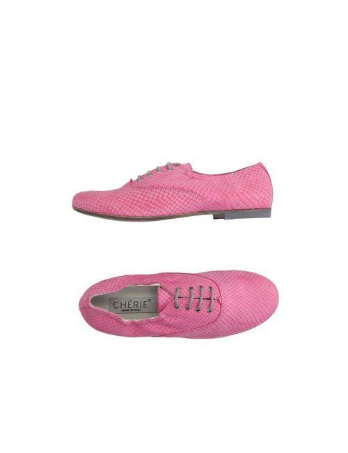 Chérie | Мужская Розовая Обувь На Шнурках