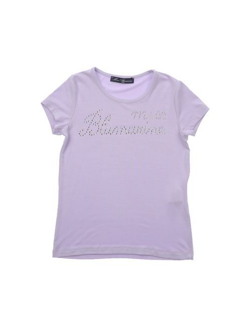 Miss Blumarine Jeans   Женская Фиолетовая Футболка
