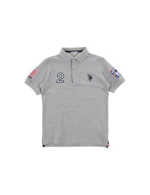 U.S. Polo Assn. | Мужское Серое Поло