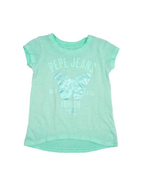 Pepe Jeans | Женская Зелёная Футболка