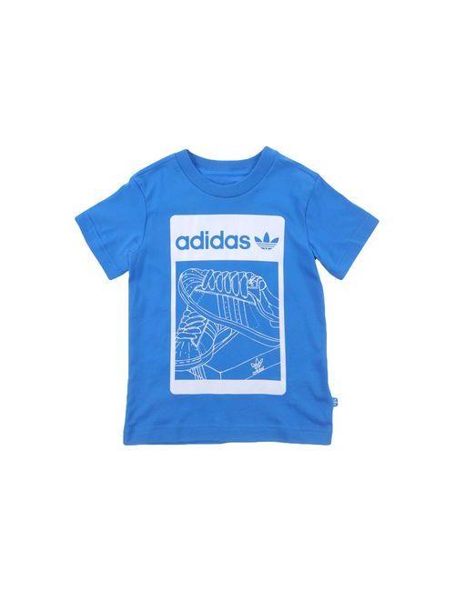 adidas Originals | Женская Синяя Футболка