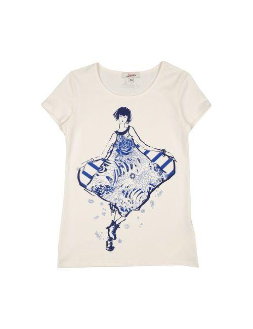 Junior Gaultier | Женская Белая Футболка