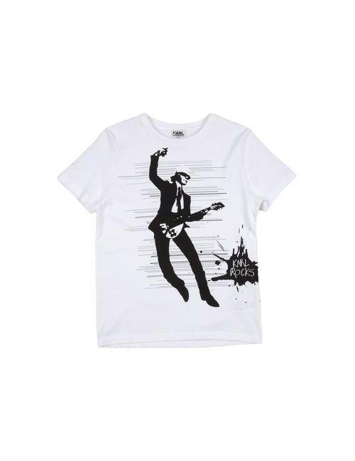 Karl Lagerfeld | Женская Белая Футболка
