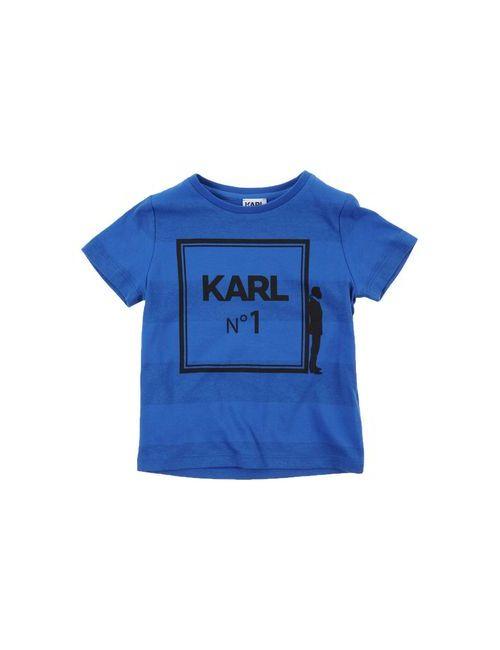 Karl Lagerfeld | Женская Синяя Футболка