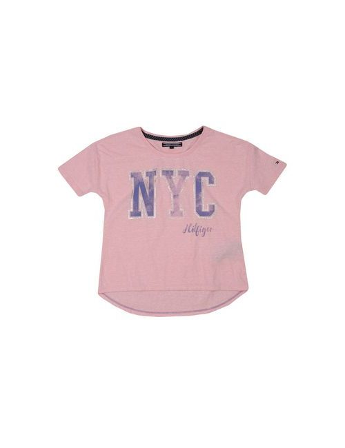 Tommy Hilfiger | Женская Розовая Футболка