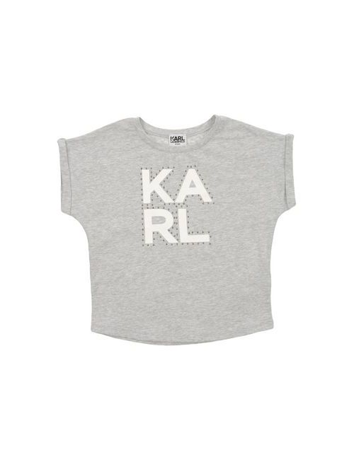 Karl Lagerfeld | Женская Серая Футболка