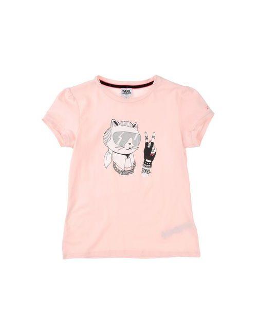 Karl Lagerfeld | Женская Розовая Футболка