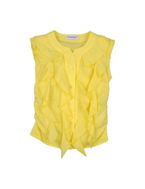 Pinko Up | Женская Жёлтая Pубашка