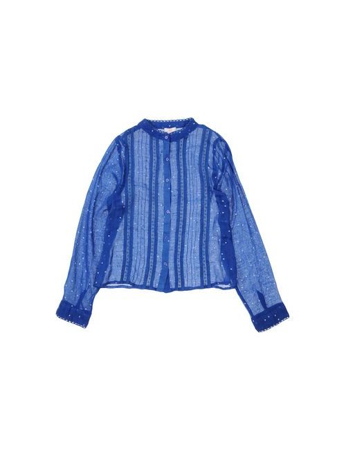 Zef | Женская Синяя Pубашка