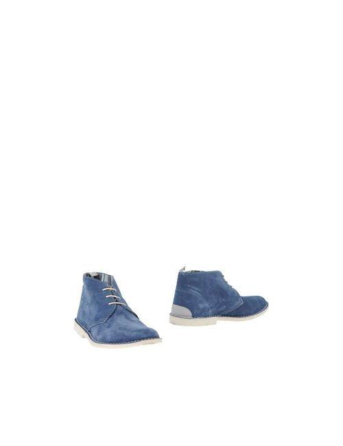 Angelo Nardelli   Мужские Синие Полусапоги И Высокие Ботинки