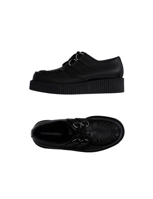 Underground | Мужская Чёрная Обувь На Шнурках