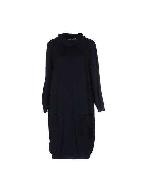 Lamberto Losani | Женское Синее Короткое Платье