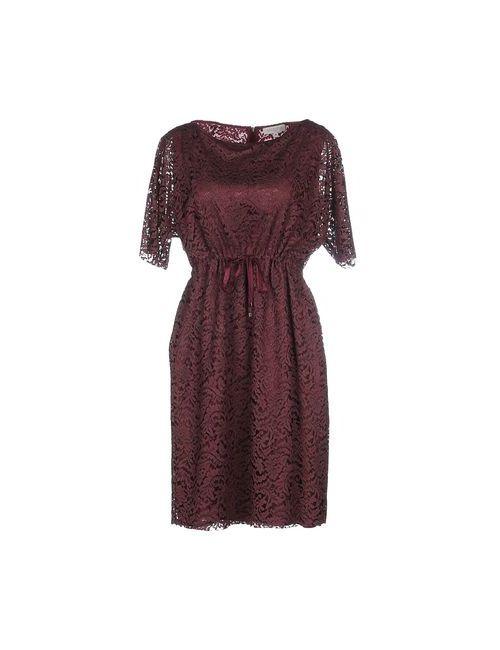 Antonelli | Женское Баклажанное Короткое Платье