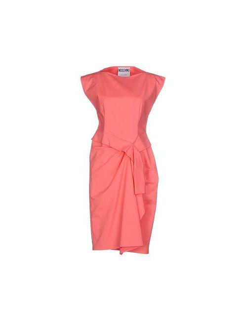 Moschino Couture | Женское Розовое Платье До Колена