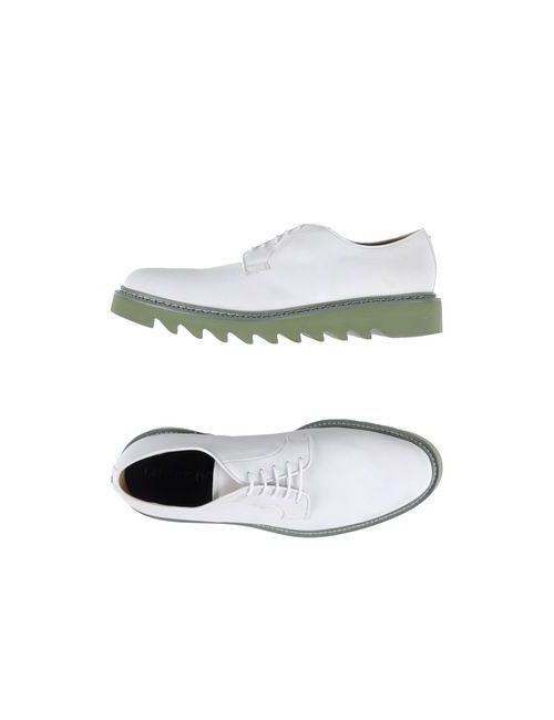 Cesare Paciotti | Мужская Белая Обувь На Шнурках